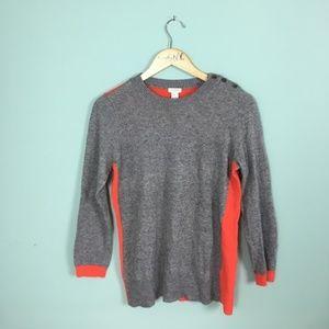 J. Crew   Colorblock Elbow-patch Sweater